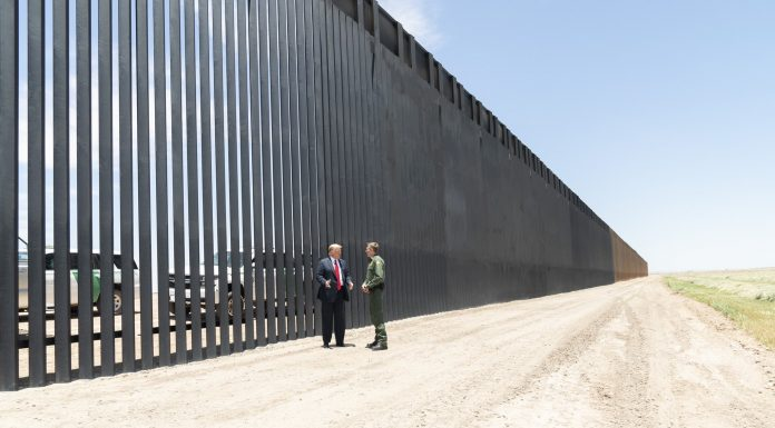 Donald Trump at the US-Mexico Border Wall