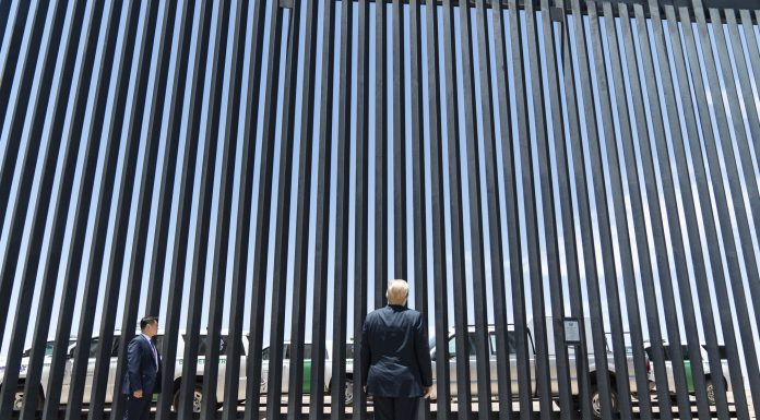 Donald Trump at the US-Mexico Border Wall