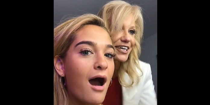 Claudia and Kellyanne Conway