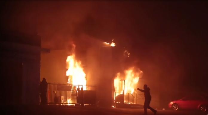 Race riots in Ferguson, Missouri