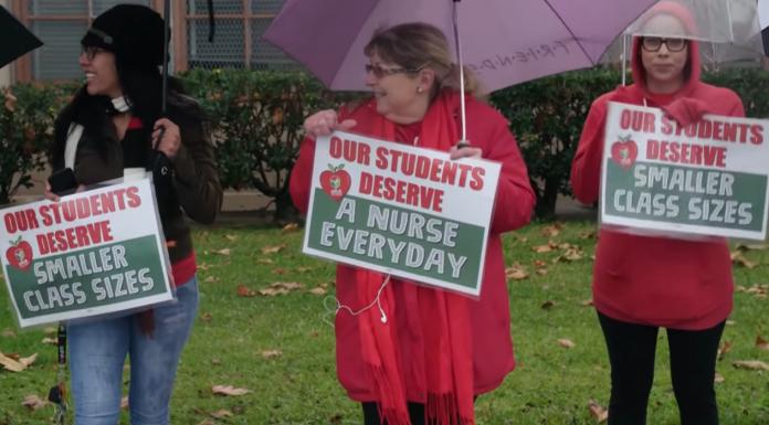 Unionized Los Angeles teachers