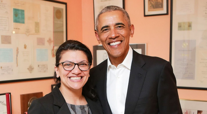 Rashida Tlaib and Barack Obama