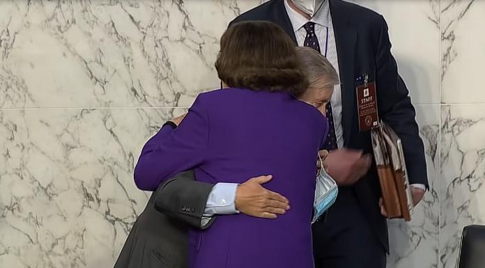 Feinstein Graham hug