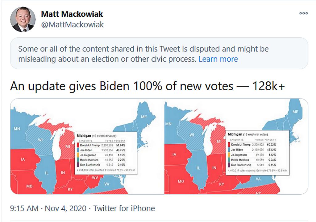 Michigan vote