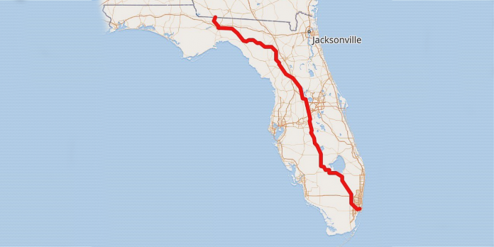 Florida's proposed Donald J. Trump Highway