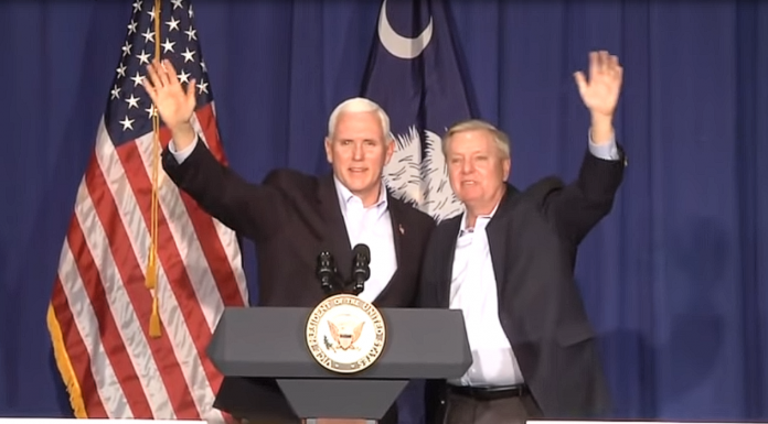 Mike Pence and Lindsey Graham