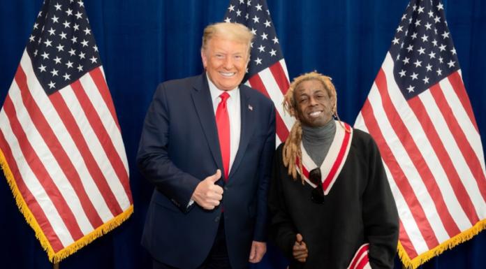 President Donald Trump and rapper Lil Wayne