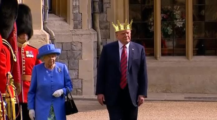 Queen Elizabeth and King Donald