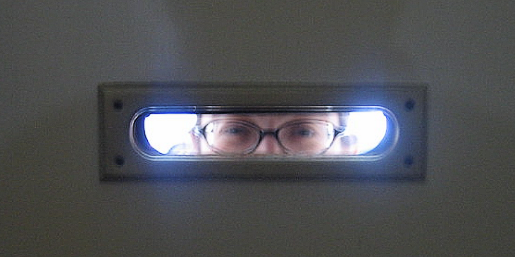 eyes in mail slot