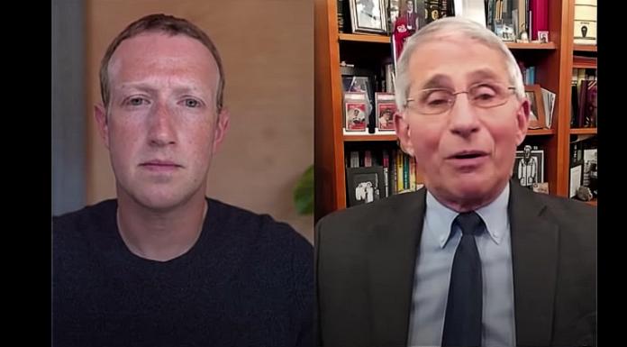 Mark Zuckerberg and Anthony Fauci