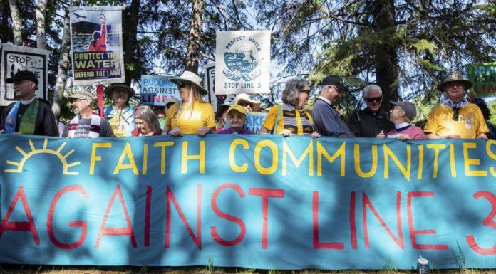 Minnesota pipeline protest