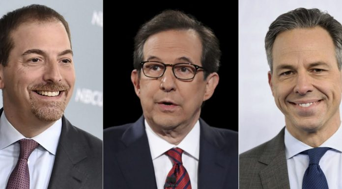 Chuck Todd, Chris Wallace and Jake Tapper
