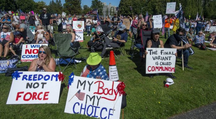 Washington vax protest